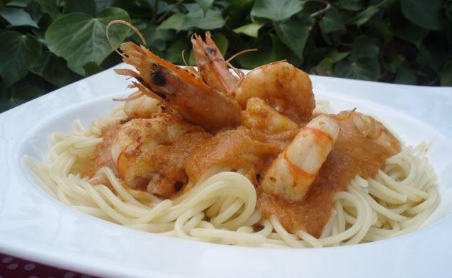recepta-espaguetis-llagostins-salsa-romesco