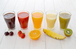 fruita transformada en suc