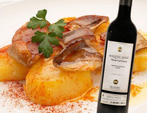 Orelles de porc amb patates al pebre vermell