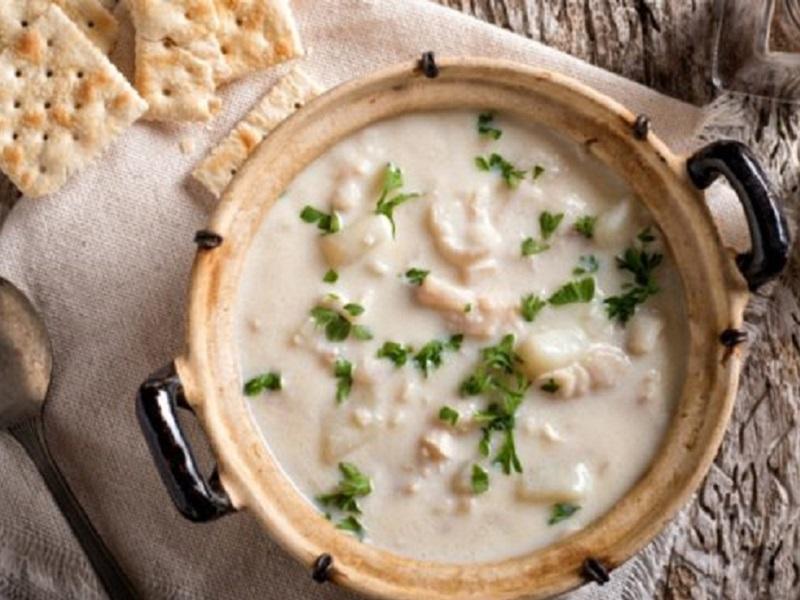 Sopa de peix amb llet fresca