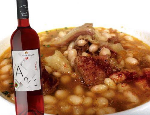 Suquet de cap i pota de vedella amb fesols de Santa Pau i toc de pebre vermell