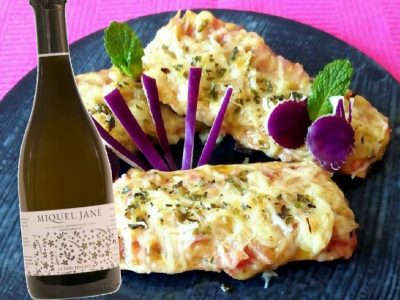 Albergínies farcides de pernil i formatge