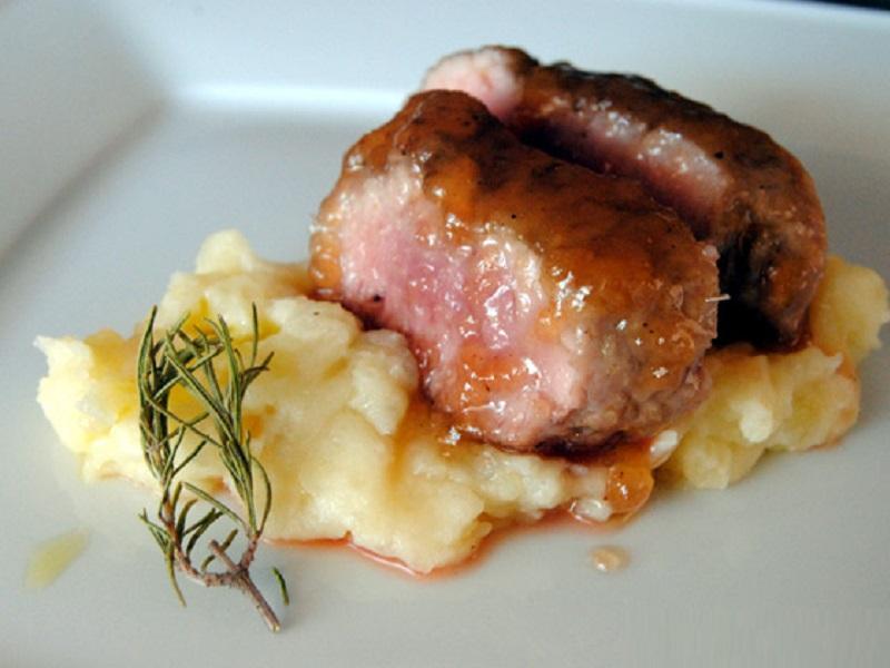 Filet de porc amb melmelada de vi negre