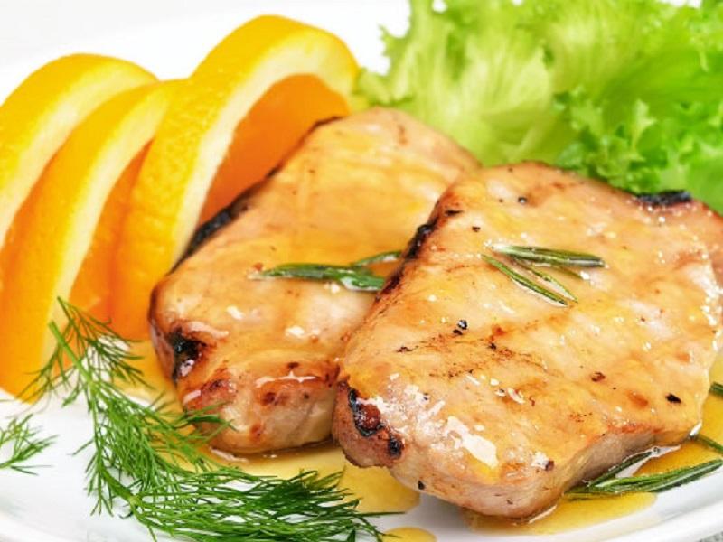 Costelles de porc amb salsa de taronja