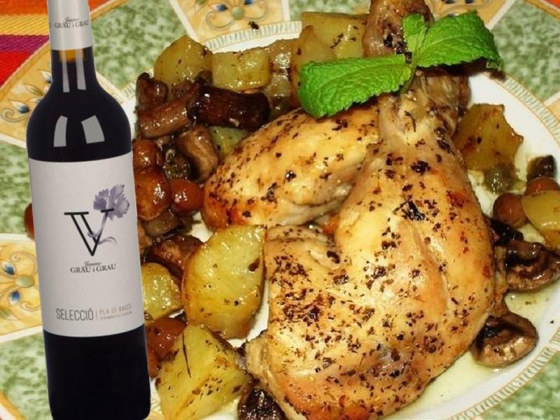 Pollastre amb olives i tàperes