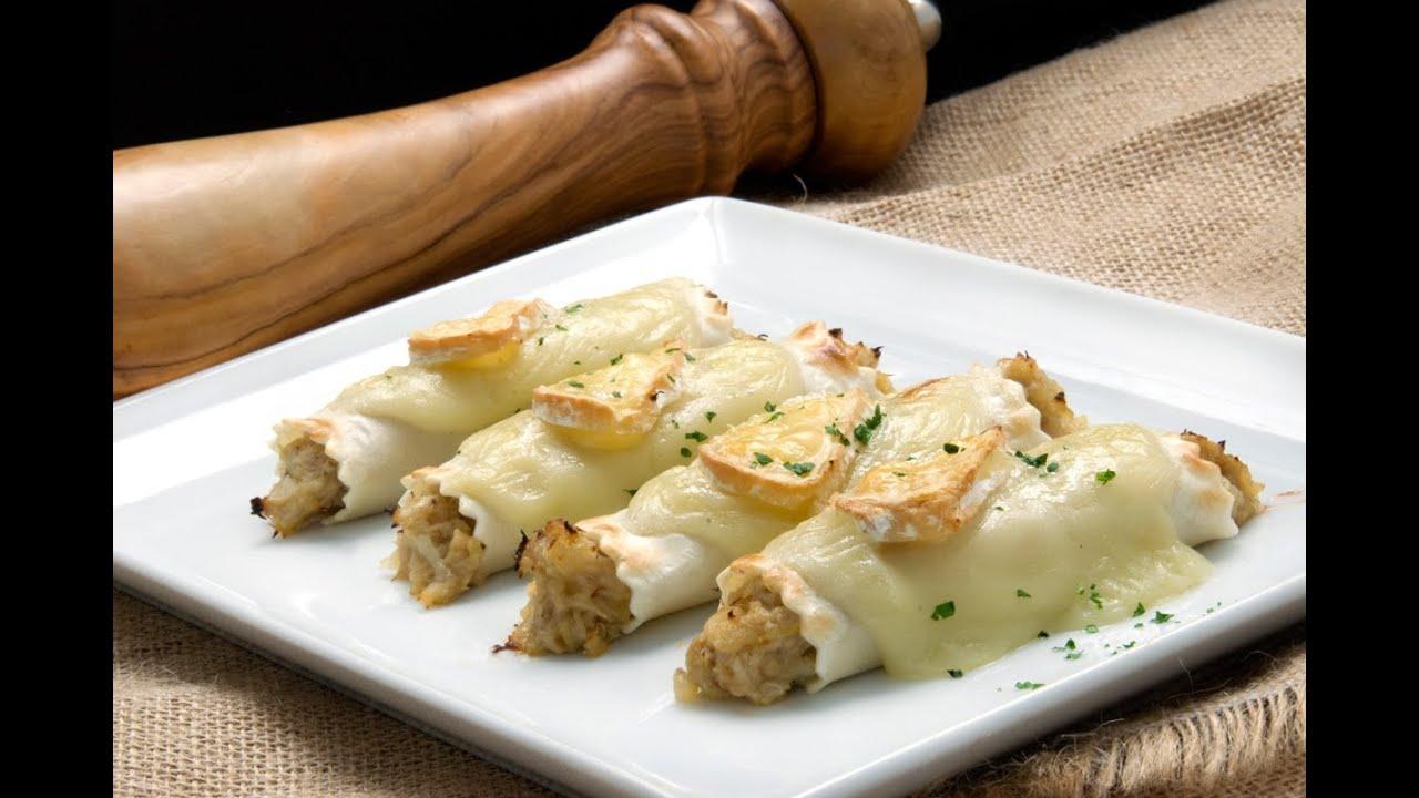 El plat gourmet de canelons amb pollastre