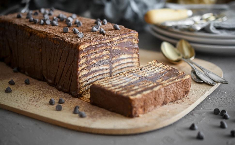 Pastís de xocolata i cafè sense forn