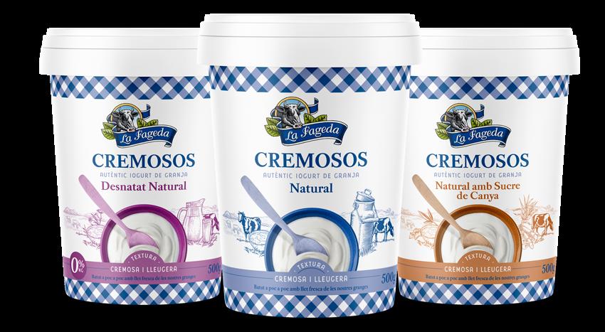La Fageda estrena nous iogurts cremosos amb envàs de cartró